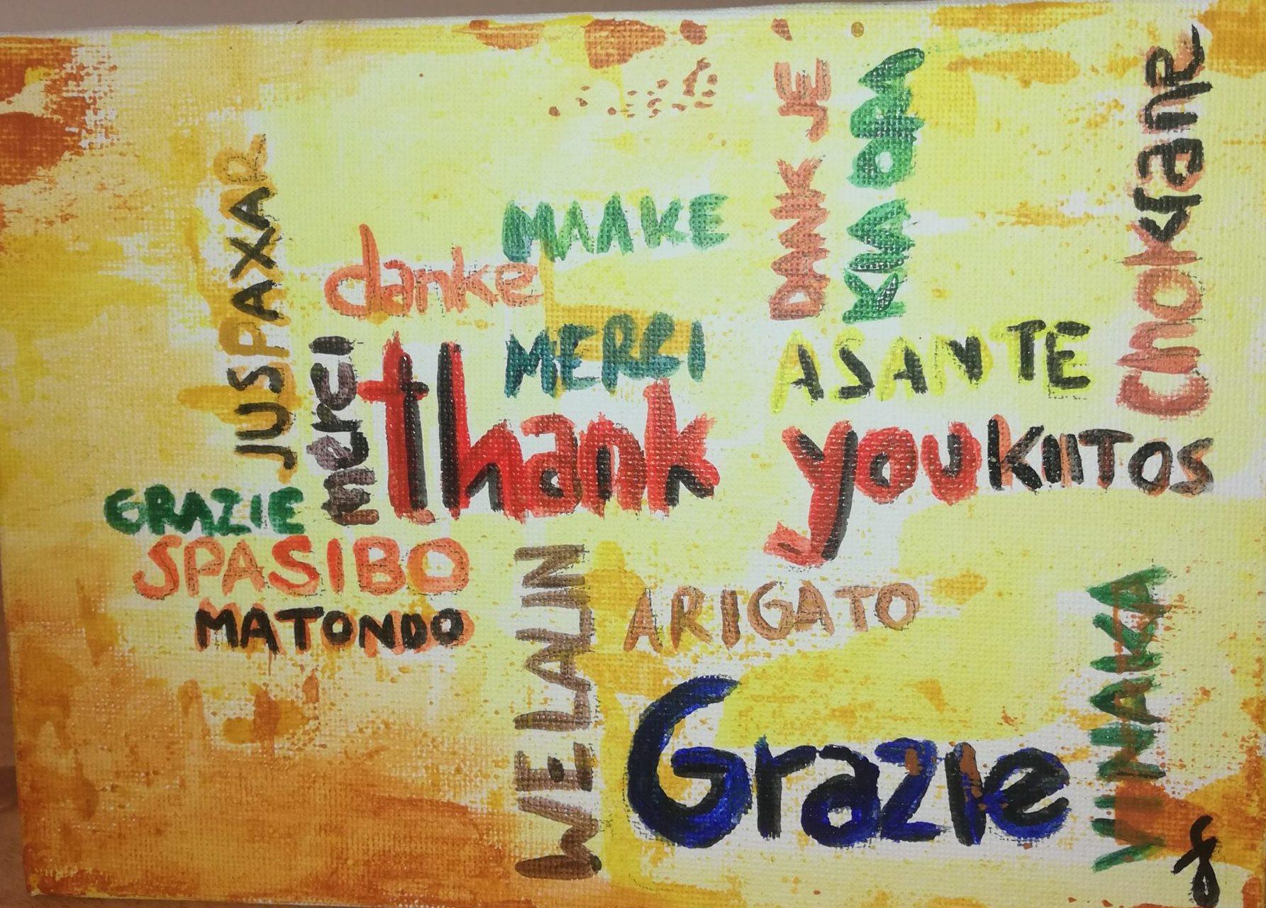 Grazie in tutte le lingue del mondo